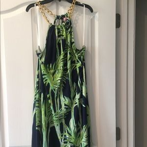 Beautiful Lilly Pulitzer chain Palm tree dress!
